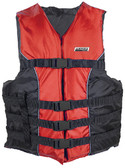4-BELT SKI VEST RED S/M TYPE III 4-BELT SKI VEST (SEACHOICE)