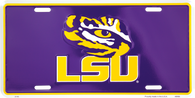 Louisiana State University LSU Tigers Embossed Metal License Plate