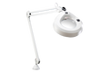 Luxo KFM Magnifier, Edge Clamp, Light Grey/White