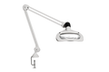 """Luxo Wave LED Magnifier with 45"""" Arm, 5-Diopter Lens and Edge Clamp, White"""