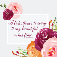 "Everything Beautiful - Luncheon Napkins with KJV Bible Verse - 6.5"" x 6.5"" (20/pkg)"