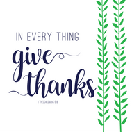 "Give Thanks -  Luncheon Napkins with KJV Bible Verse - 6.5 x 6.5"" (20/pkg)"