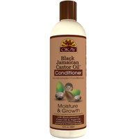 OKAY  Black Jamaican Castor Oil Moisture Growth Conditioner- Helps Moisturize & Regrow Strong Healthy Hair - Sulfate, Silicone, Paraben Free For All Hair Types and Textures - Made in USA. 12oz / 355ml