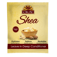 OKAY® Ultra Moisturizing Shea Leave In Conditioner Packet - Helps Hydrate, Moisturize, And Soften Hair - Sulfate, Silicone, Paraben Free For All Hair Types and Textures - Made in USA  1.5oz