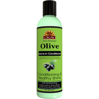 OKAY Olive Conditioning and Healthy Shine Leave In Conditioner – Helps Nourish, Condition, And Hydrate Hair - Sulfate, Silicone, Paraben Free For All Hair Types and Textures  -  Made in USA 8oz 237ml