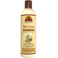 OKAY Black Soap Nourishing Conditioner - Helps Cleanse, Nourish, And Hydrate Hair - Sulfate, Silicone, Paraben Free For All Hair Types and Textures - Made in USA 12oz 355ml