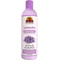 OKAY Lavender Shine & Hydration Shampoo – Helps Replenish, Nourish, And Hydrate Hair - Sulfate, Silicone, Paraben Free For All Hair Types and Textures- Made in USA 12oz 355ml