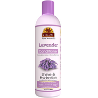 OKAY Lavender Shine & Hydration Conditioner – Helps Replenish, Nourish, And Hydrate Hair - Sulfate, Silicone, Paraben Free For All Hair Types and Textures- Made in USA 12oz 355ml