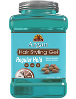 Argan Hair gel  -Regular Hold- Healthy Conditioning Shine, Leaves Hair Smooth, Conditions Hair- No flakes, No stick, No Itch, And Alcohol-Free, For All Hair Types And Textures - Made in USA    50 oz / 1.42 kg