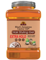 Black Jamaican Castor Oil Hair gel - Extra Hold-  Healthy Conditioning Shine, Leaves Hair Smooth, Conditions Hair- No flakes, No stick, No Itch, And Alcohol-Free, For All Hair Types And Textures  - Made in USA 50 oz / 1.42 kg
