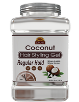 Coconut Hair gel - Healthy Conditioning Shine, Leaves Hair Smooth, Conditions Hair- No flakes, No stick, No Itch, And Alcohol-Free, For All Hair Types And Textures - Made in USA   50 oz / 1.42 kg
