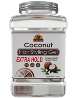 Coconut Hair gel - Extra Hold - Healthy Conditioning Shine, Leaves Hair Smooth, Conditions Hair- No flakes, No stick, No Itch, And Alcohol-Free, For All Hair Types And Textures  - Made in USA  50 oz / 1.42 kg