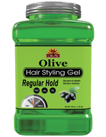 Olive Hair gel - Regular Hold- Healthy Conditioning Shine, Leaves Hair Smooth, Conditions Hair- No flakes, No stick, No Itch, And Alcohol-Free, For All Hair Types And Textures - Made in USA  50 oz / 1.42 kg
