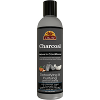OKAY Charcoal Detoxing & Purifying  Leave In Conditioner– Helps, Detoxify, Purify, and Cleanse Hair - Sulfate, Silicone, Paraben Free For All Hair Types and Textures - Made in USA  8oz / 237ml
