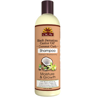 OKAY Black Jamaican Castor Oil Coconut Curls Shampoo - Helps Condition, Strengthen, And Regrow Hair - Sulfate, Silicone, Paraben Free For All Hair Types and Textures - Made in USA 12oz 355ml