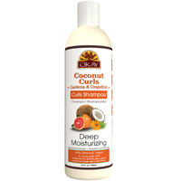 OKAY Coconut Curls Gardenia & Grapefruit Shampoo- Helps Moisturize, Hydrate, And Define Curls - Sulfate, Silicone, Paraben Free For All Hair Types and Textures - Made in USA 12oz 355ml