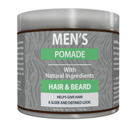 OKAY Men's Natural Hair & Beard Pomade -   Formulated For Men, Helps Polish, Style, And Hold, Hair And Beard - Silicone, Paraben Free For All Hair Types & Textures. Made in USA - 4.8 oz