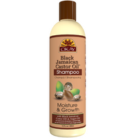 OKAY  Black Jamaican Castor Oil Moisture & Growth Shampoo- Helps Moisturize & Regrow Strong Healthy Hair - Sulfate, Silicone, Paraben Free For All Hair Types and Textures - Made in USA. 12oz / 355ml