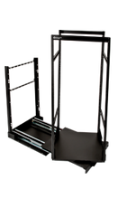 Rotating Rack Pull-Out System 4 Rails 12U x 19 Deep