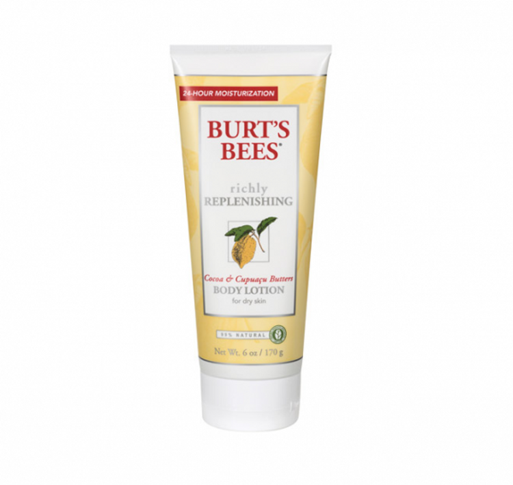 Burt's Bees Richly Replenishing Body Lotion 6 oz Cocoa & Capuacu Butters for Dry Skin