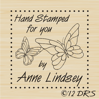 Butterfly Custom Hand Stamped by