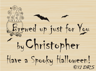 Halloween Custom Hand Stamped by Stamp