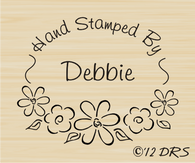 Flower Oval Custom Hand Stamped by Stamp