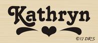 Heart Design Custom Name Stamp - 64002