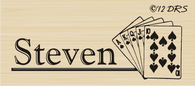 Playing Cards Custom Name Stamp - 64010