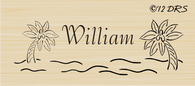 Palm Tree Custom Name Stamp - 64013