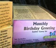 Monthly Birthday Greetings Set
