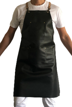 This Apron is 100% hand made with high quality microfiber leather. It has four pockets to store all sort of professional and personal items. With high durability it is a fantastic pick for uses across the board. No Need to wash or iron, just wipe clean.