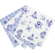 Talking Tables Party Porcelain Blue Napkins - Pack of 20
