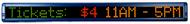 """Alpha 220C - 2.1"""" Tri-Color Characters, 38""""L x 4""""H"""