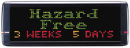 """Alpha 7080C - 1 -4 Lines, 1.5"""" - 7.2"""" Tri-Color Characters, 28""""L x 10""""H"""