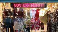 Alpha Window Display - Red LED