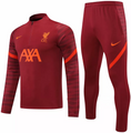 Adult Liverpool 2021-22 Deep Red Football Soccer Tech Training Suit