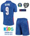 Kids England 2020-21 Away Football Kit With Free Name & Number