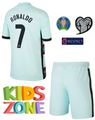 Kids Portugal 2020-21 Away Football Kit With Free Name & Number