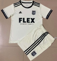 Kids Los Angeles FC 2021-22 Gold Soccer Football Kit With Free Name & Number