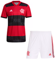 Kids Flamengo 2021-22 Home Football Kit With Free Name & Number