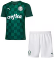 Kids SE Palmeiras 2021-22 Home Football Kit With Free Name & Number