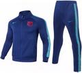 Kids Barcelona 2021-22 Blue Football Soccer Tracksuit Suit