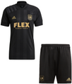 Kids Los Angeles FC 2021-22 Black Soccer Football Kit With Free Name & Number