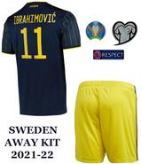 SWEDEN AWAY KIT IBRAHIMOVIC 11