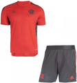 Kids Flamengo 2021-22 training Football Soccer Kit With Free Name&Number