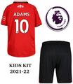 Kids Southampton 2021-22 Home Football Kit Soccer Kit With Free Name&Number