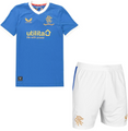 Kids Rangers 2021-22 Home Football Kit Soccer Kit With Free Name&Number