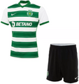 Kids Sporting Lisbon 2021-22 Home Football Kit Soccer Kit With Free Name&Number