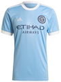 Adult New York City FC  2021-22 Light Blue Football Shirt Soccer Jersey With Free Name & Number